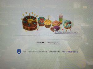 Googleからもお祝いしてもらった