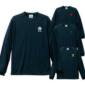ワンポイントバスケ長袖Tシャツ(ブラック)