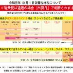 令和元年消費増税の対応について